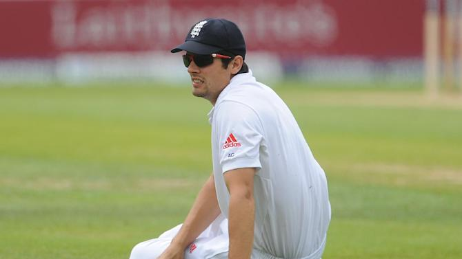 Rahul Dewan who scored 143 not out, was dropped by Alastair Cook, pictured, at slip