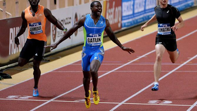 Athletics - Gatlin shines to win 200m in Monaco