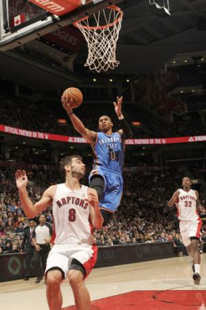 Westbrook scores 23, Thunder beat Raptors 104-92