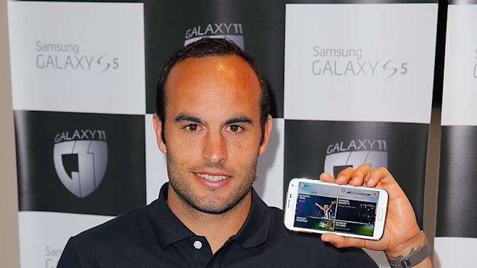Landon Donovan Samsung Galaxy 11 Media Day