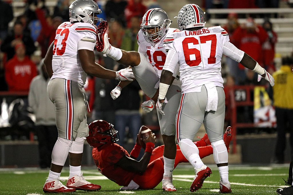 Ohio State routed Maryland 62-3. (Getty)