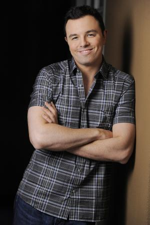"""This June 16, 2012 photo shows Seth MacFarlane, director and co-writer of the film """"TED,"""" posing for a portrait at The Four Seasons Hotel in Beverly Hills, Calif. TV's animation king with """"Family Guy,"""" """"American Dad!"""" and """"The Cleveland Show,"""" MacFarlane adds to his renaissance man resume as writer, director, producer and voice star of """"Ted,"""" a raunchy but warmhearted tale of a grown man and his best buddy, a talking teddy bear. (Photo by Chris Pizzello/Invision/AP)"""