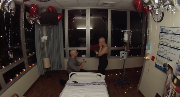 This cancer patient had no idea that she would be celebrating the end of chemotherapy with a proposal!
