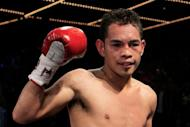 """Filipino Flash"" Nonito Donaire, pictured in 2011, will defend his super bantamweight crown against Mexico's Jorge Arce next month and Thailand's Poonsawat Kratingdaenggym reportedly will fight for a rival title"