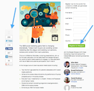 5 Steps to Gaining Leads Through Engaging Landing Pages image Social Sharing and CTA 300x290