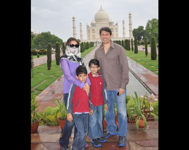 Madhuri Dixit with her family