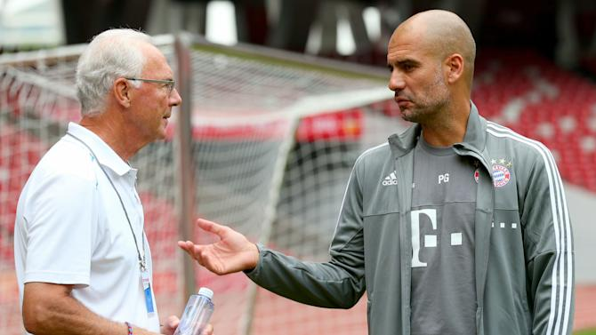 Guardiola exit would be a shame for Bayern - Beckenbauer