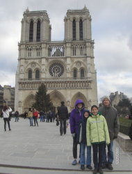 My husband will always be the first man that took our daughters to Paris. Here in front of Notre Dame Cathedral.
