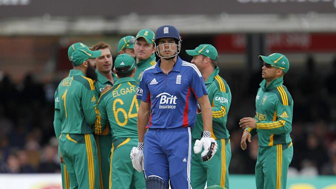 Alastair Cook was out early on in the fourth NatWest Series match against South Africa