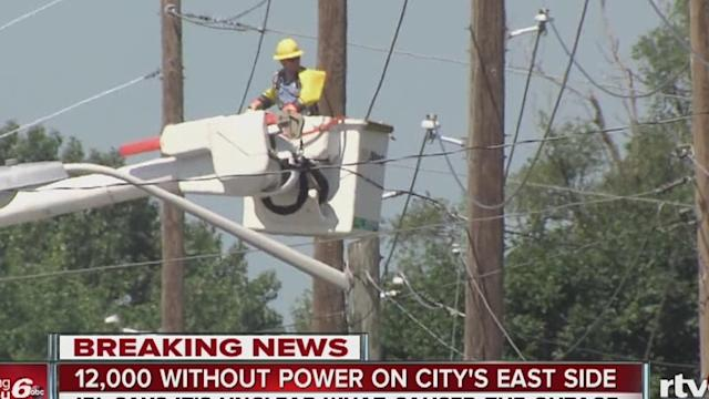 About 13,000 IPL customers without power on east side