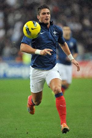 Olivier Giroud scored 21 goals in 36 league appearances for Ligue 1 champions Montpellier