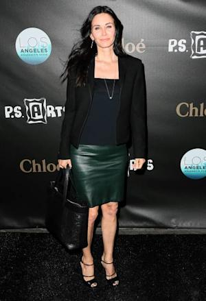 Courteney Cox is seen at the Los Angeles Modernism Show & Sale at Barker Hangar in Santa Monica, Calif., on April 25, 2013 -- Getty Images