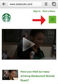 Not All Responsive Web Design is Created Equal image starbucks icon before