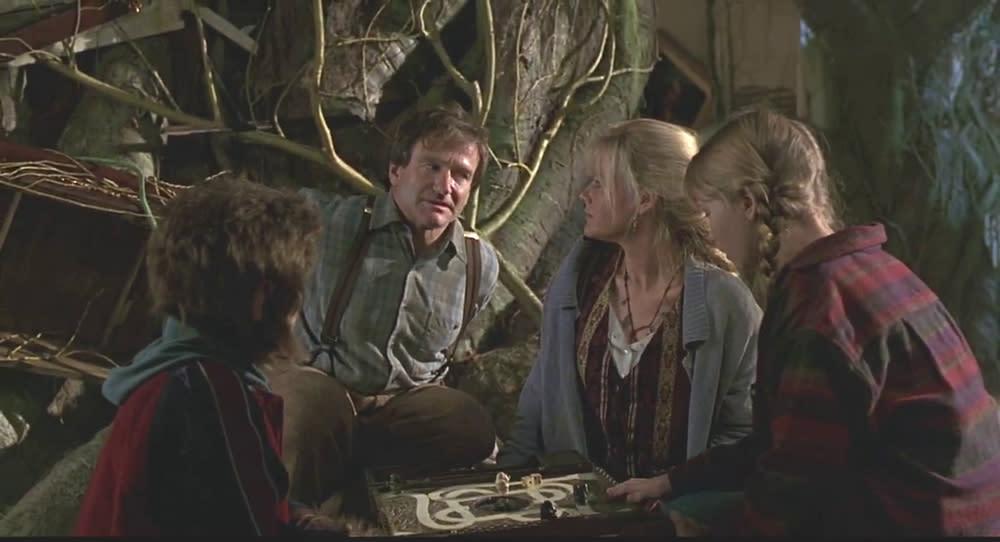 <p>舊版《野蠻遊戲》可說是羅賓威廉斯的代表作之一。(圖/《野蠻遊戲》電影劇照) </p>