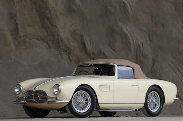 Stylish: The 1957 Maserati will be auctioned in January in California (Caters)
