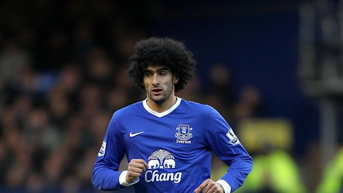 Marouane Fellaini has been named Barclays Premier League player of the month for November