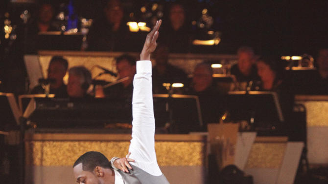"""Kym Johnson and Jaleel White perform on """"Dancing With the Stars."""""""