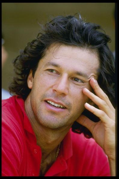 1987:  A portrait of Imran Khan , the captain of Pakistan.  Mandatory Credit:Allsport UK