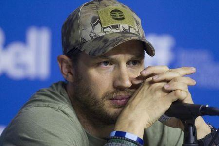 Hardy attends a news conference to promote the film The Drop at the Toronto International Film Festival