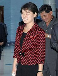 North Korean leader Kim Jong-Un's wife Ri Sol-Ju, who South Korean media say is in her twenties and is a former songstress who was specially trained to become Kim's consort