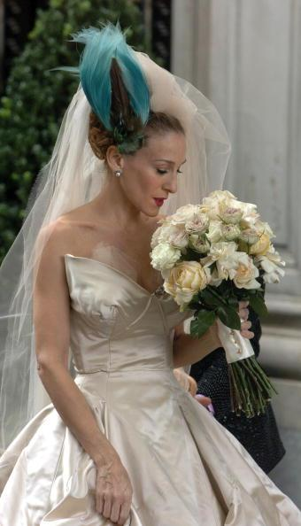 Celebs in coloured wedding dress