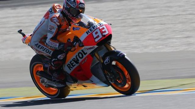 Motorcycling - Marquez storms to fifth successive pole in France