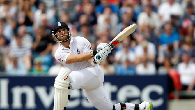 Matt Prior brought up an attractive half-century on the fourth morning at Headingley