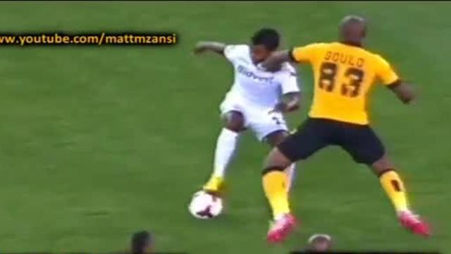 African Football - Player lands knock-out punch, does not even get booked
