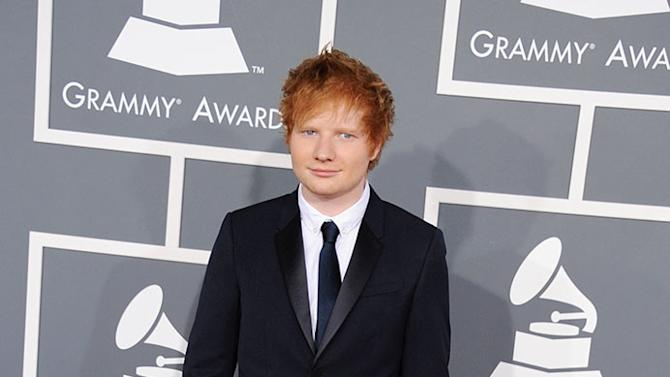 The 55th Annual GRAMMY Awards - Arrivals: Ed Sheeran