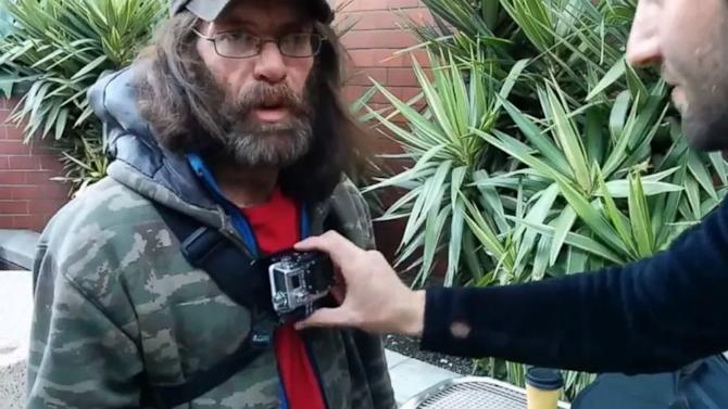 Homeless Man Straps on Camera to Document Life on the Streets