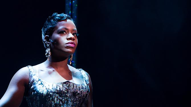 """This undated photo released by O&M Co. shows Fantasia Barrino in Broadway's """"After Midnight,"""" in New York. (AP Photo/O&M Co., Matthew Murphy)"""