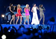 Spice Girls perform at the Olympic stadium during the closing ceremony of the 2012 London Olympic Games in London