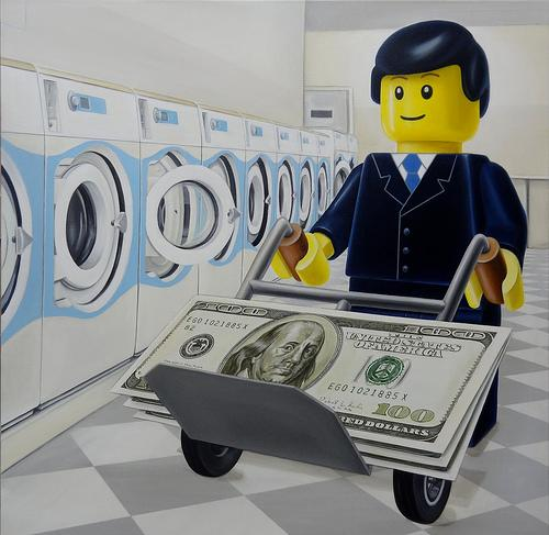 """The Money Laundrette"" - Artist: Ego Leonard. Courtesy of 1AM Gallery, San Francisco, CA."