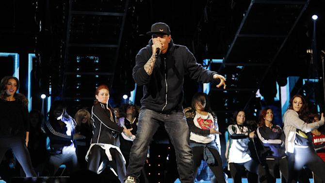 Entertainer Vanilla Ice rehearses before the   skills competition at the NBA All Star basketball game, Saturday, Feb. 15, 2014, in New Orleans. The 63rd annual NBA All Star game will be played Sunday in New Orleans