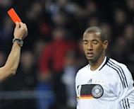 Germany's defender Jerome Boateng during their Russia vs Germany football World Cup 2010 qualifying match on October 10, 2009 at Luzhniki Stadium, Moscow. Germany can win the 2014 World Cup, team manager Oliver Bierhoff believes