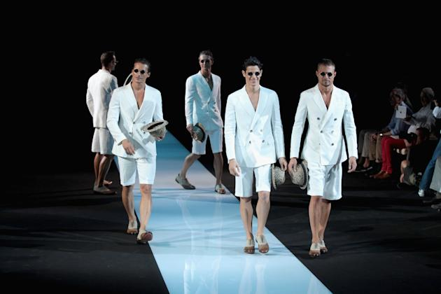 Giorgio Armani: Runway - Milan Fashion Week Menswear Spring/Summer 2013