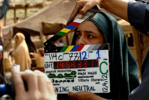 "Iranian actress, Sareh Bayat working on the set of the film ""Muhammad"", the first part of a trilogy on the life of the prophet"