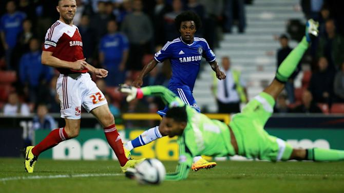 Soccer - Capital One Cup - Third Round - Swindon Town v Chelsea - County Ground