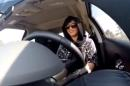 FILE - This Nov. 30, 2014 image made from video released by Loujain al-Hathloul, shows her driving towards the United Arab Emirates - Saudi Arabia border before her arrest on Dec. 1, 2014, in Saudi Arabia. Two Saudi women, including al-Hathloul, detained for nearly a month after violating the kingdom's female driving ban have been referred Thuesday, Dec. 25, 2014 to a court established to try terrorism cases on charges related to comments they made on social media. (AP Photo/Loujain al-Hathloul, File)