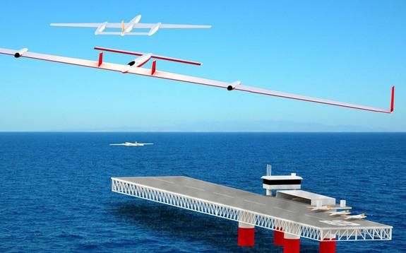 Drones acting as flying batteries could dock with an electric plan in midair during a transatlantic flight.