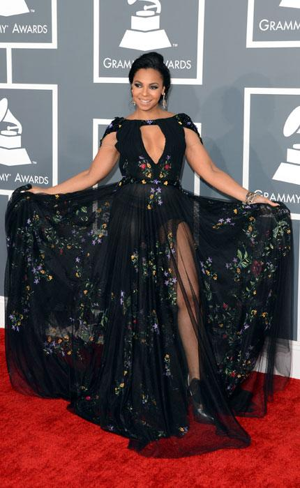 Singer Ashanti arrives at the 55th Annual GRAMMY Awards at Staples Center on February 10, 2013 in Los Angeles, California. (Photo by Jason Merritt/Getty Images)