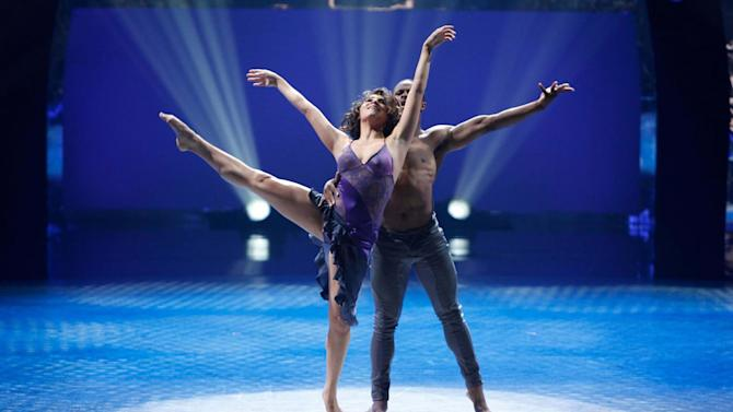 """Contestant Jordan Casanova and All-Star Brandon Bryant perform a Contemporary routine to """"Who You Are,"""" choreographed by Dwight Rhoden and Desmond Richardson on """"So You Think You Can Dance."""""""