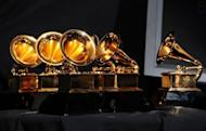 A collection of awards for the Grammy ceremony in Los Angeles, California. Music stars hit the red carpet Sunday for the Grammys, with veterans like Elton John and Sting joining newcomers including indie pop band fun., hoping to win big in their breakout year