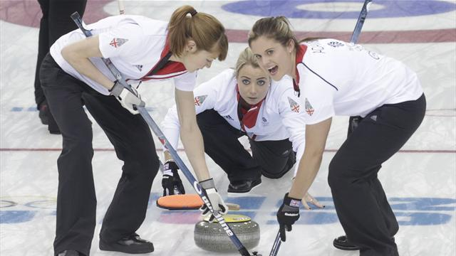 Curling - Britain limp into semis after Denmark defeat