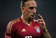 Franck Ribéry of Bayern Munich takes a break during a match in China on July 26, 2012. Bayern Munich will kick-off their league campaign on Saturday at Bundesliga new boys Greuther Fuerth without France wing Ribery, who is recovering from a fever