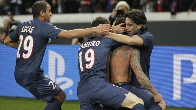 Champions League - PSG into last eight after draw with Valencia