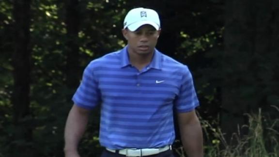 Woods pars No. 13 in Round 2 of AT&T National
