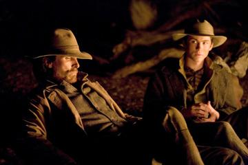 Christian Bale and Logan Lerman in Lionsgate Films' 3:10 to Yuma