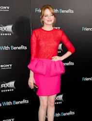 Emma Stone attends the 'Friends with Benefits' premiere at Ziegfeld Theater on July 18, 2011 in New York City -- FilmMagic