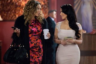 Kim K., right, with Vanessa Williams in 'Temptation'
